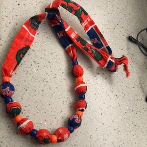 Jewelry - Florida gators hand made necklace